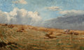 Fine Art - Painting, American:Antique  (Pre 1900), William Anderson Coffin (American, 1855-1926). Open Meadow,1883. Oil on panel. 8-1/2 x 14 inches (21.6 x 35.6 cm). Sign...