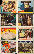 """Movie Posters:Exploitation, Why Girls Leave Home & Others Lot (PRC, 1945). Title LobbyCards (2), Lobby Cards (10), International Lobby Cards (2) (11""""X... (Total: 14 Items)"""