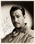 Movie/TV Memorabilia:Autographs and Signed Items, A Robert Taylor Signed Black and White Photograph, Circa 1940s....