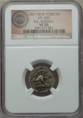 1837 R.E. Russell 12 1/2 Cents, New York, NY, Low-128 HT-309, R.5, VF30 NGC