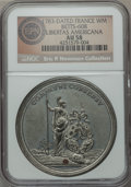 Betts Medals, 1783 Peace of Versailles, Libertas Americana, Betts-608, AU58 NGC....