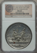 Betts Medals, 1783 Treaty of Paris, Peace of Versailles, Betts-610, BHM-255, MS62NGC. ...