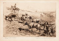 Art, Edward Borein (American, 1872-1945): Three Etchings DepictingCattle Driving.... (Total: 3 Items)