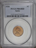 1936 1C Type One--Satin Finish PR64 Red PCGS. A sharp impression from the dies with full details on both sides. Most 193...