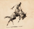 Art, Edward Borein (American, 1872-1945): Three Preliminary DrawingsDepicting Cowboys. ... (Total: 3 Items)