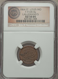 Civil War Merchants, 1864 Lallemand's, St. Louis, MO, Fuld 910B-8a, R.10, AU58 NGC. ...