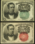 Fractional Currency:Fifth Issue, 10¢ Fifth Issue Notes.. ... (Total: 2 notes)