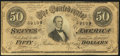 Confederate Notes:1864 Issues, T66 $50 1864 PF-14.. ...