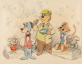 Animation Art:Production Drawing, The Huckleberry Hound Show Illustration (Hanna-Barbera, c. 1958)....