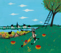 Animation Art:Concept Art, Mary Blair Melody Time Johnny Appleseed Concept Painting (Walt Disney, 1948)....