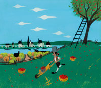 Mary Blair Melody Time Johnny Appleseed Concept Painting (Walt Disney, 1948)
