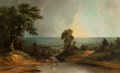 Fine Art - Painting, American:Antique  (Pre 1900), Jacob Caleb Ward (American, 1809-1891). On the Frontier. Oilon canvas. 33 x 53 inches (83.8 x 134.6 cm). Signed lower l...