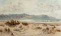 Fine Art - Painting, European:Antique  (Pre 1900), Daniel Sherrin (British, 1868-1940). Dunes on a Welsh Coast.Oil on canvas. 30 x 50-1/4 inches (76.2 x 127.6 cm). Signed...