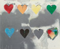 Prints, Jim Dine (American, b. 1935). Eight Hearts, 1970. Lithograph in colors. 24-1/2 x 29-1/4 inches (62.2 x 74.3 cm). ...
