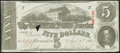 Confederate Notes:1863 Issues, T60 $5 1863 PF-19 Cr. 457.. ...