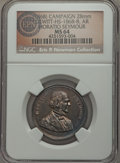 U.S. Presidents & Statesmen, (1868) Horatio Seymour Campaign Medallion, DeWitt HS-1868-8, MS64NGC. ...