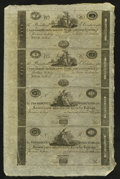 Obsoletes By State:Maryland, Baltimore, (MD)- Farmers & Merchants Bank of Baltimore $5-$5-$10-$10 ND (1810-20) Uncut Sheet . ...