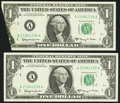 Error Notes:Foldovers, Fr. 1901-A $1 1963A Federal Reserve Notes. Two ConsecutiveExamples. Very Choice Crisp Uncirculated.. ... (Total: 2 notes)