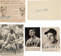 Baseball Collectibles:Photos, 1950's Mel Ott Signed Newspaper & Magazine Photographs Lot of5. ...