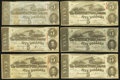 Confederate Notes:1863 Issues, T60 $5 1863 Monthly Issue Set Eleven Examples.. ... (Total: 11notes)