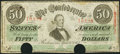 Confederate Notes:1863 Issues, T57 $50 1863. PF-3 Cr. 408 . ...