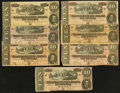 Confederate Notes:Group Lots, T68 $10 1864 Seven Examples.. ... (Total: 7 notes)