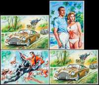 "James Bond Prints by Walt Howarth (Walt Howarth, 2000s). Autographed Limited Edition Prints (4) (8.25"" X 11.5""..."