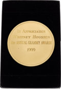 Music Memorabilia:Awards, Whitney Houston National Academy of Recording Arts and Sciences(NARAS) Grammy Appreciation Medal, 1999....