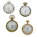Timepieces:Pocket (post 1900), Four 12 Size Pocket Watches. ... (Total: 4 Items)