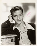 Movie/TV Memorabilia:Autographs and Signed Items, A Frank Sinatra Signed Black and White Photograph, Circa 1940s....