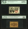 Fractional Currency:Fifth Issue, Fr. 1265 10¢ Fifth Issue PCGS Very Choice New 64PPQ. Fr. 1230 5¢First Issue PCGS Choice Very Fine 35.. ... (Total: 2 notes)