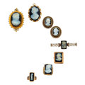 Estate Jewelry:Lots, Victorian Hardstone Cameo, Seed Pearl, Gold Jewelry. ... (Total: 8 Items)