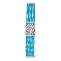 Estate Jewelry:Bracelets, Turquoise, Diamond, White Gold Bracelet. ...