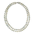 Estate Jewelry:Necklaces, Dyed Freshwater Cultured Pearl, White Gold Necklace. ...