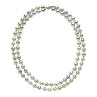 Dyed Freshwater Cultured Pearl, White Gold Necklace
