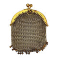 Estate Jewelry:Purses, Gold Mesh Purse. ...