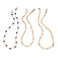 Estate Jewelry:Necklaces, Cultured Pearl, Gold Necklaces. ... (Total: 3 Items)