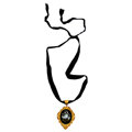 Estate Jewelry:Brooches - Pins, Victorian Hardstone, Yellow Metal Pietra Dura Pendant-Brooch. ...(Total: 2 Items)