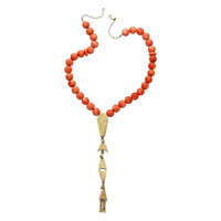 Coral, Gold Necklace