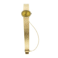 Lady's Concord 14k Gold & Diamond Quartz Wristwatch