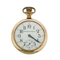 Timepieces:Pocket (pre 1900) , Illinois 21 Jewel Pennsylvania Special With ORCC Multicolor Case,Later Made Dial. ...