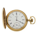 Timepieces:Pocket (post 1900), E. Howard Watch Co. 16 Size With Original Wooden Box. ...