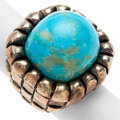 Estate Jewelry:Rings, Turquoise, Sterling Silver Ring, Dian Malouf. ...
