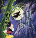 Animation Art:Production Drawing, Mickey Mouse and Castle Illustration Original Art (Walt Disney, c.1990s)....