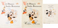 Animation Art:Poster, Walt Disney's Studio Restaurant Menu Group of 2 (Walt Disney, c.1940s-50s).... (Total: 3 Items)