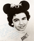 Animation Art:Photograph, The Mickey Mouse Club Annette Funicello Photograph andLetter Group (Walt Disney, 1957-59).... (Total: 6 Items)