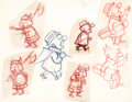 animation art:Model Sheet, Mr. Magoo Model Sheet Original Art Group (UPA, 1960s)....(Total: 7 Items)