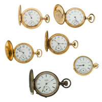 Six Lady's Pocket Watches Two Are Gold Runners