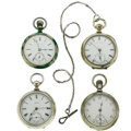 Timepieces:Pocket (post 1900), Four 18 Size Pocket Watches. ... (Total: 4 Items)