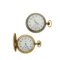 Timepieces:Pocket (post 1900), Elgin & Waltham Watches. ... (Total: 2 Items)